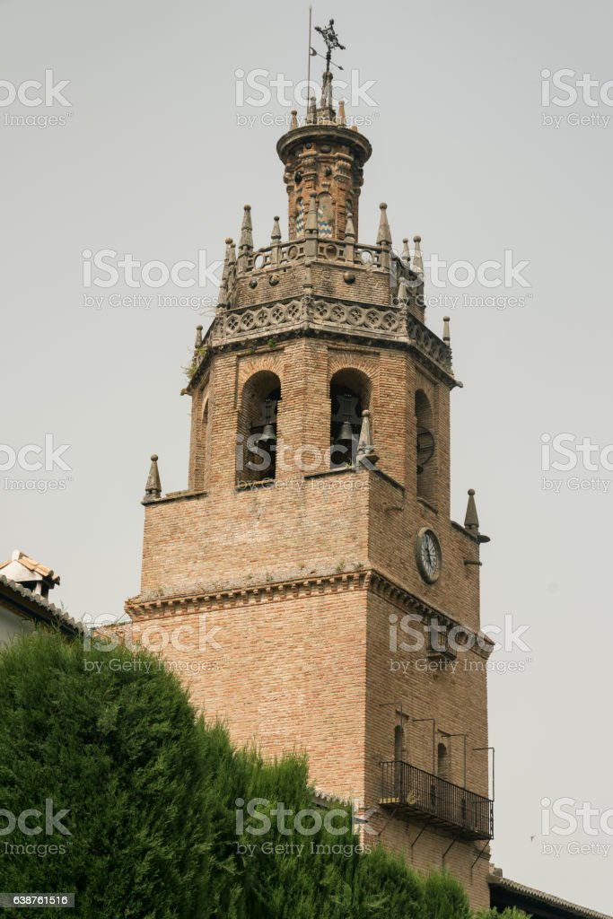 Ronda (Andalucia, Spain): tower stock photo
