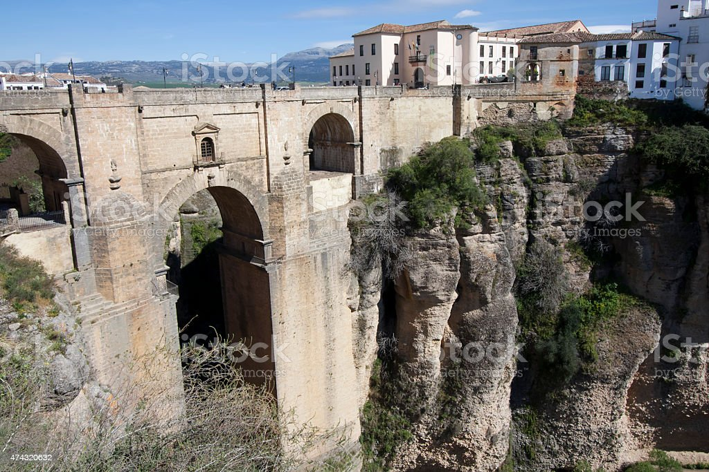 Ronda village in Andalusia, Spain. stock photo