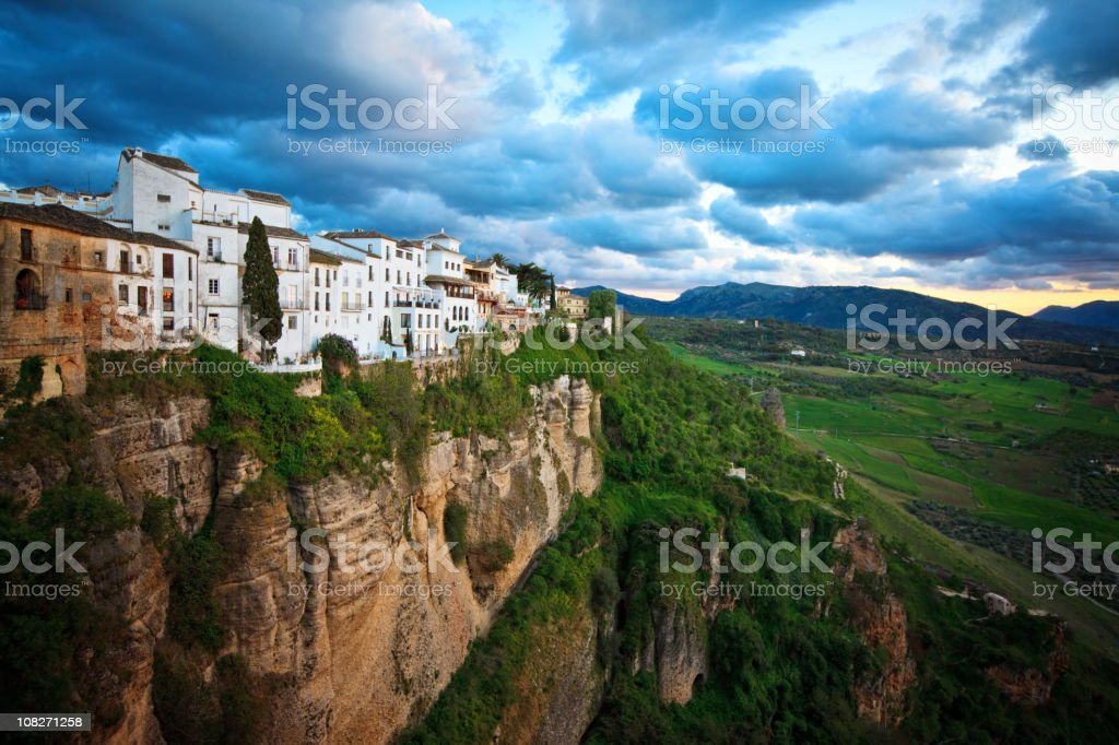 ronda village stock photo
