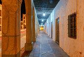 Ronda. Village street at night.