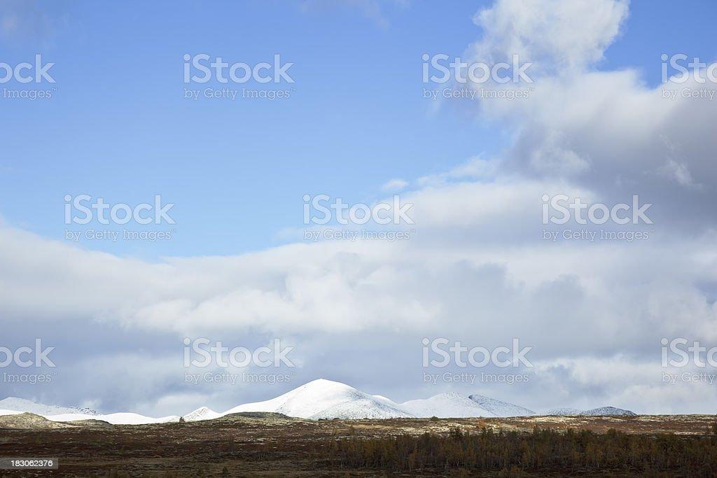 Rondane mountain range. stock photo