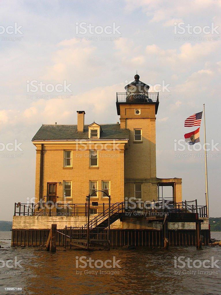 Rondout Creek Lighthouse, Kingston, NY stock photo