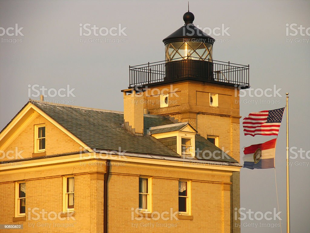 Rondout Creek Lighthouse, Kingston, NY stock photo