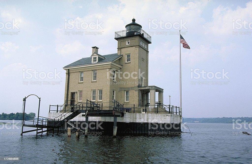 Rondout Lighthouse stock photo