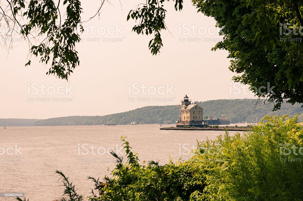 Rondout Lighthouse stock photo