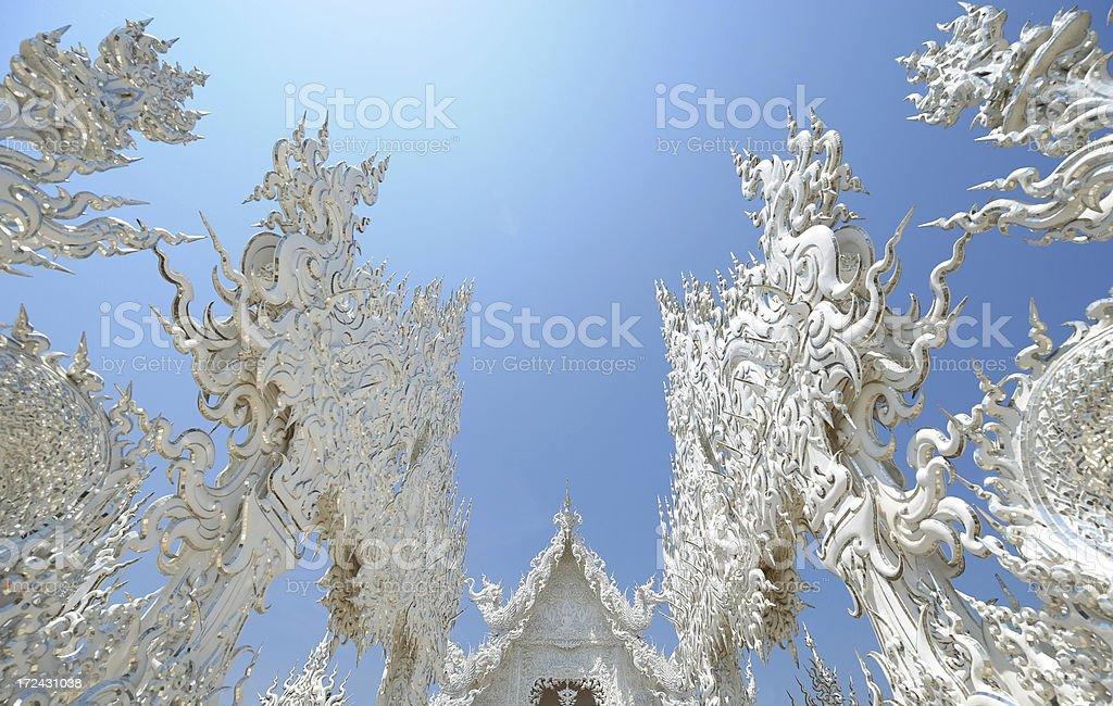 Rong Kun Templein Thailand Amazing Wat Thai royalty-free stock photo