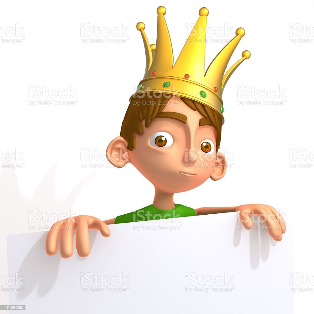 Ronnie funny king stock photo