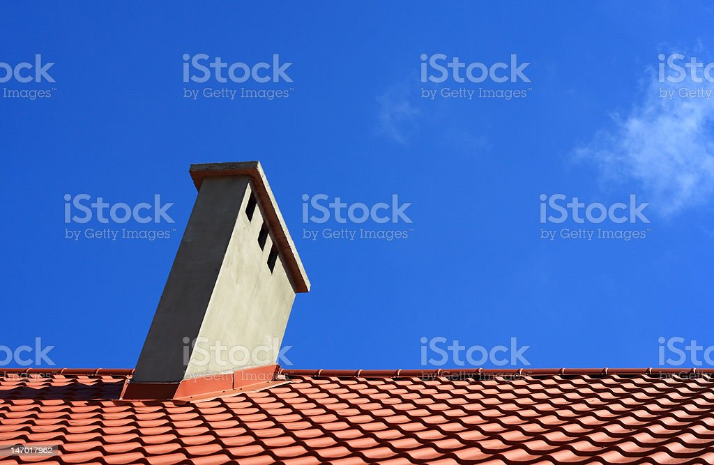 roof and chimney royalty-free stock photo