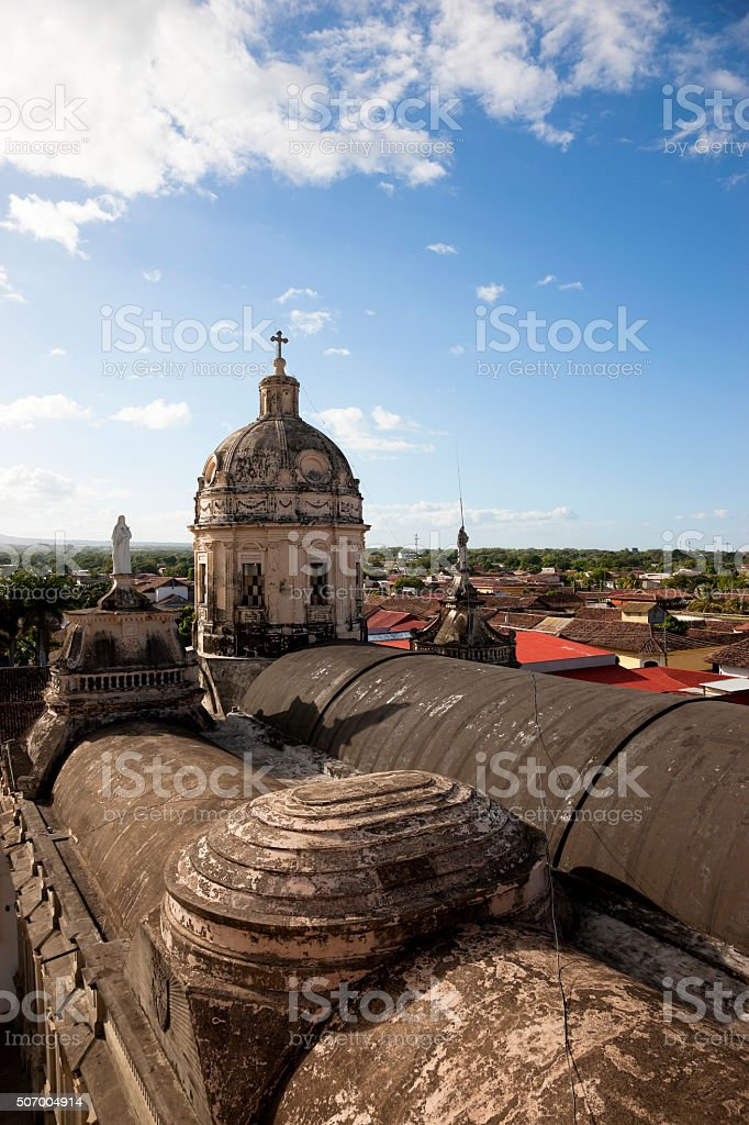 Roof and dome of La Merced Church stock photo