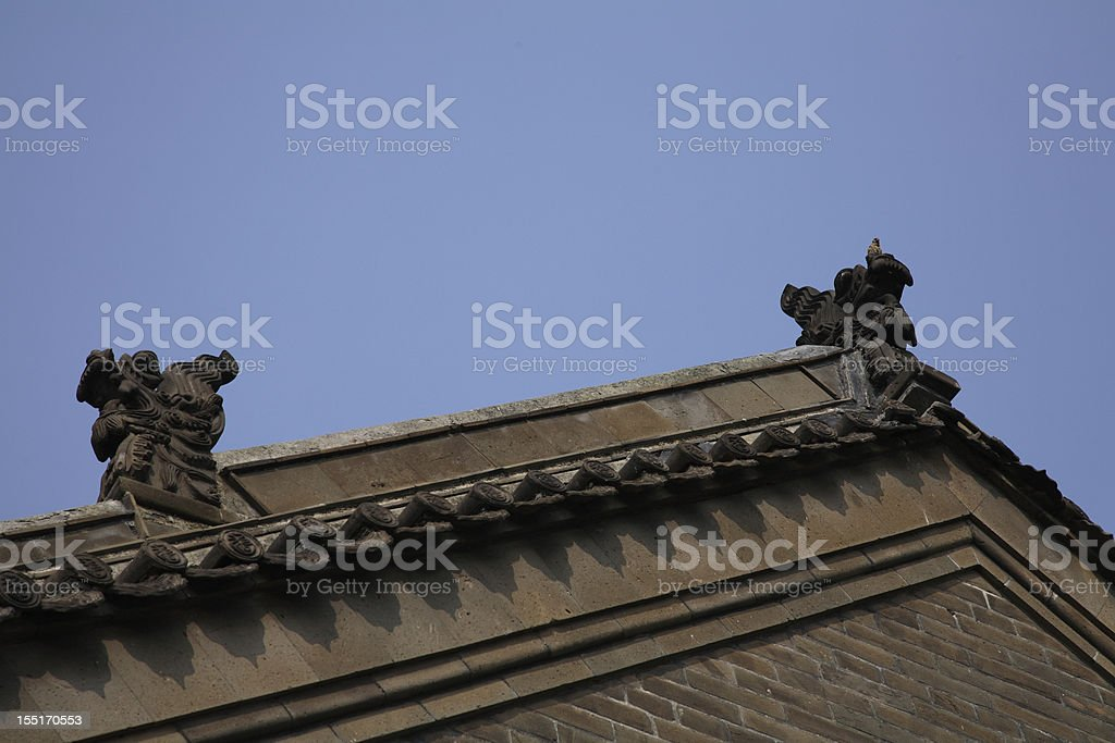 Roof and sky stock photo