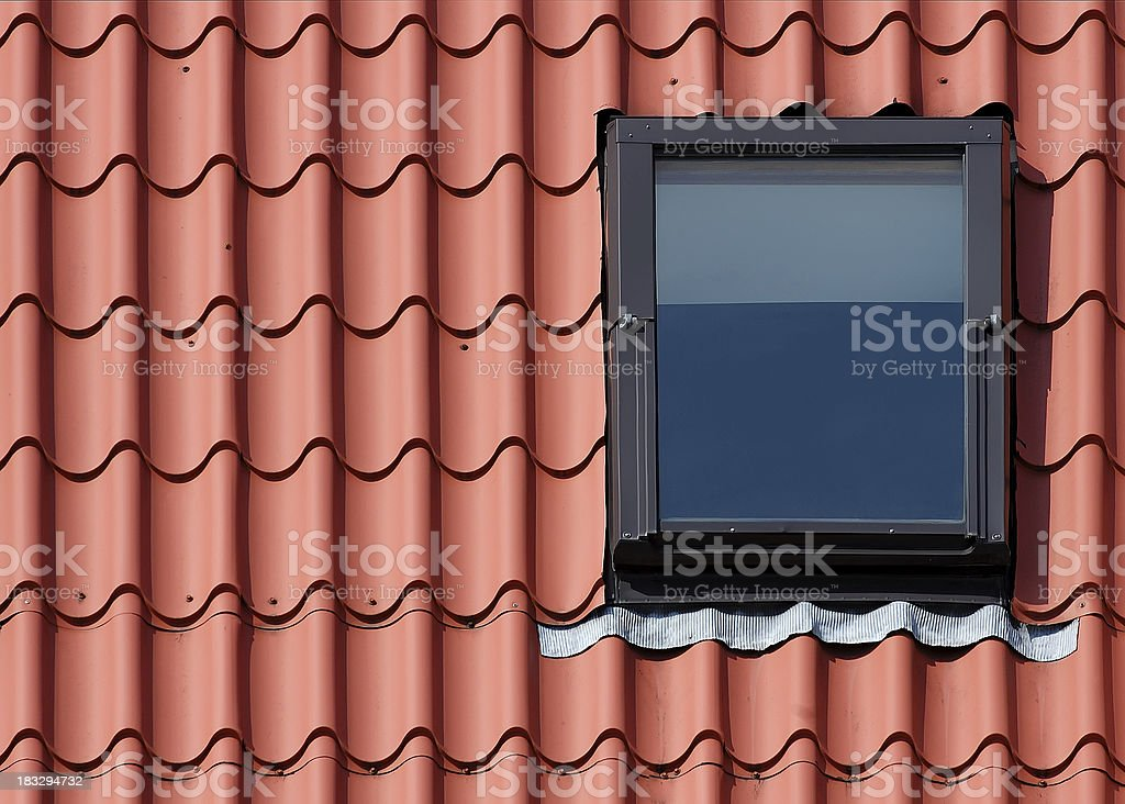 Roof and window stock photo
