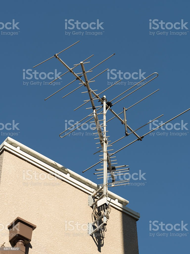 Roof antenna stock photo