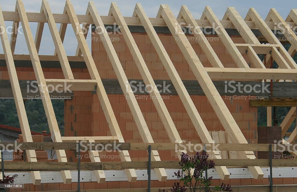 roof as a rough construction stock photo