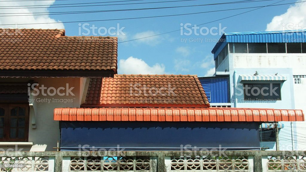 Roof background stock photo
