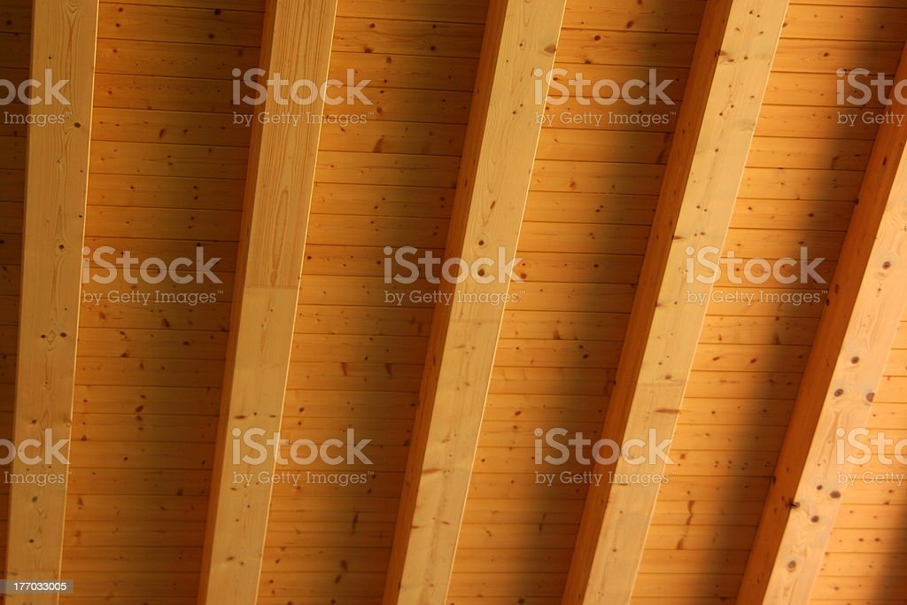 Roof beams stock photo