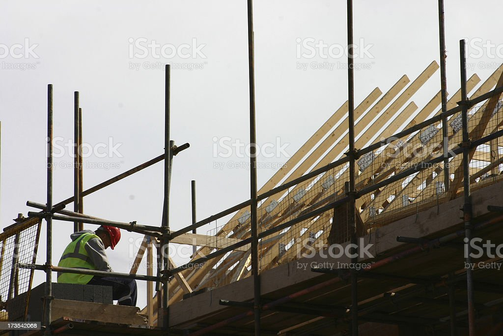 Roof build royalty-free stock photo