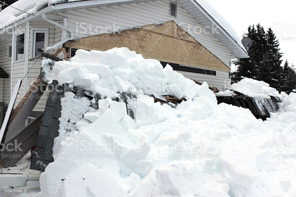 Roof Collapse stock photo