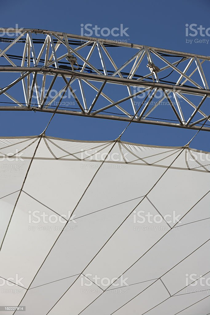 Roof construction for open air stages royalty-free stock photo