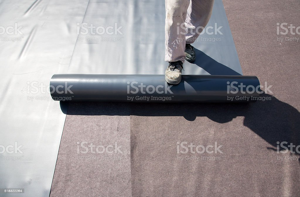 Roof Covering stock photo
