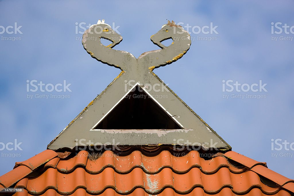 Roof decoration in Lower Saxony, Germany royalty-free stock photo
