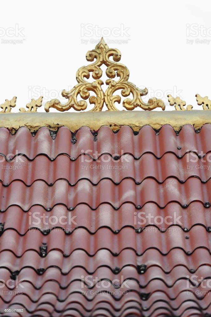 Roof decoration-viharn of Wat Pha Singkham. Muang La-Udomxai province-Laos. 3589 stock photo