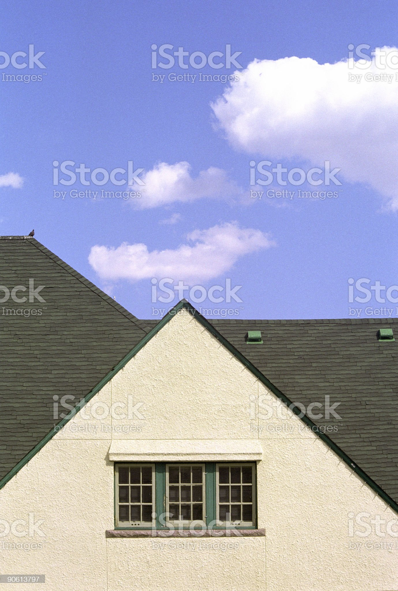 Roof Detail, Jasper Train Station - 1 royalty-free stock photo