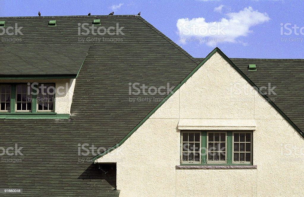 Roof Detail, Jasper Train Station - 2 stock photo