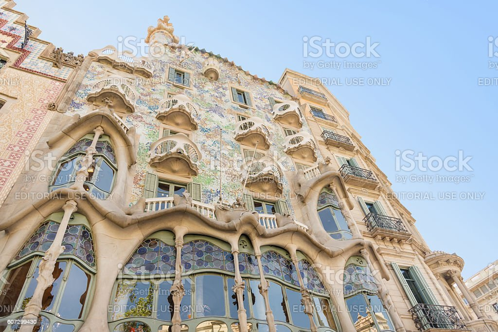 Roof Detail of Casa Batllo - Barcelona - Spain stock photo