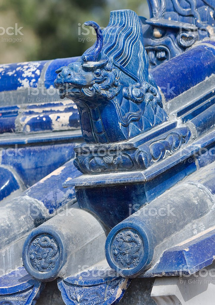 Roof Details at Temple of Heaven, Beijing, China royalty-free stock photo