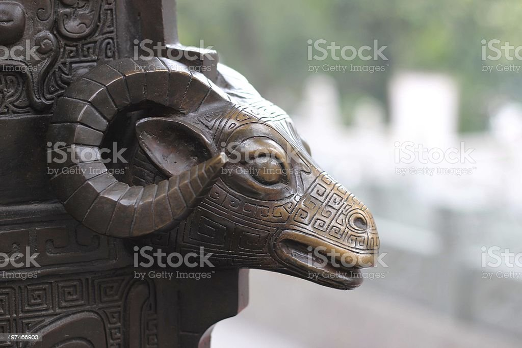 Roof Details of Chinese Temple in HongKong stock photo