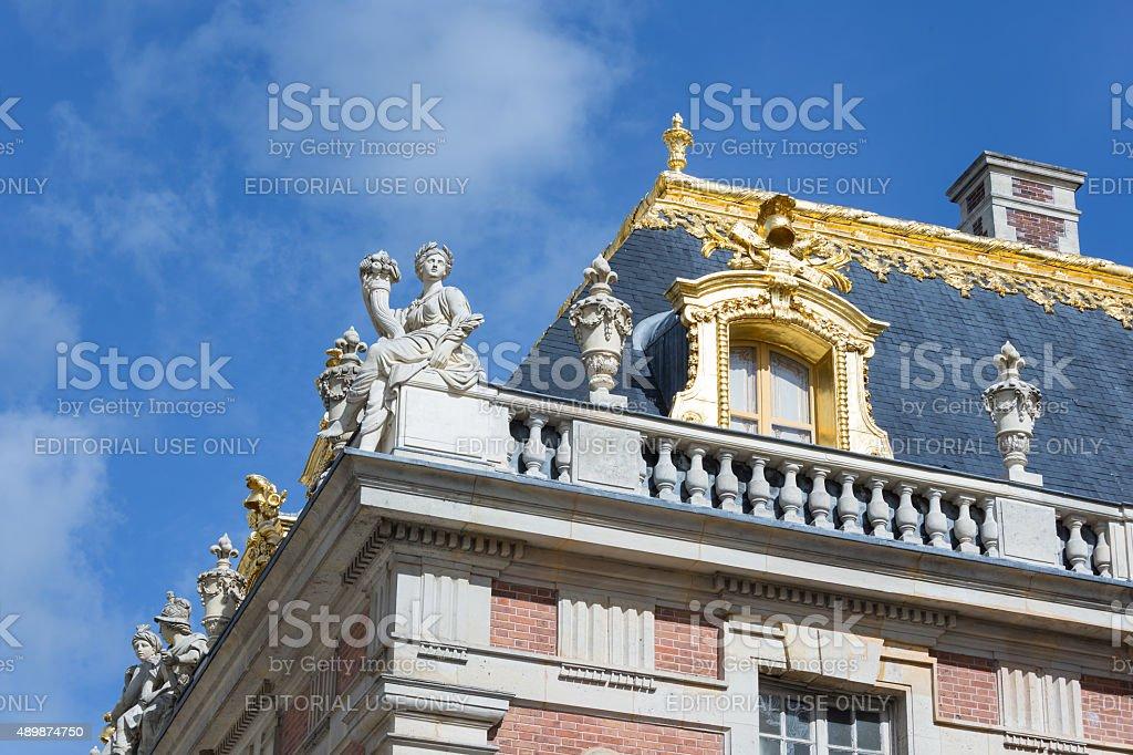 Roof details Palace Versailles near Paris, France stock photo