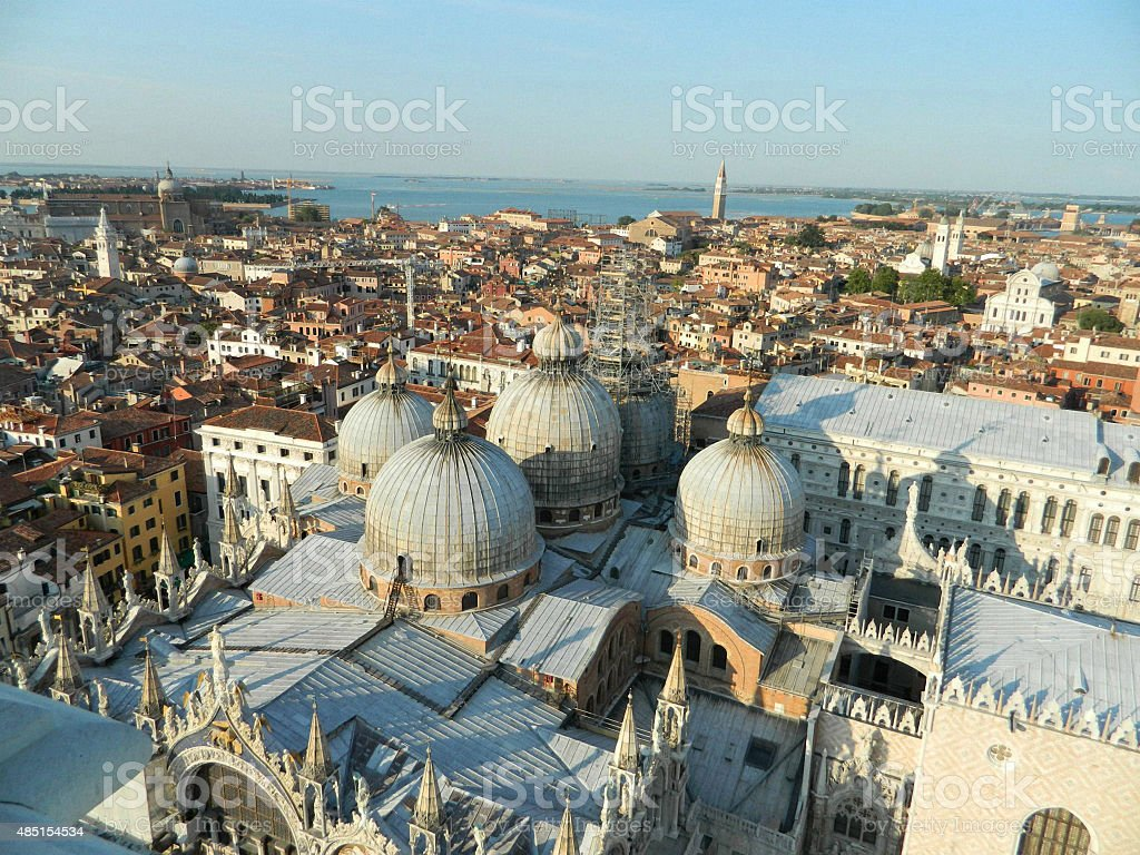 Roof domes of Cathedral of San Marco, Venice, Italy. stock photo
