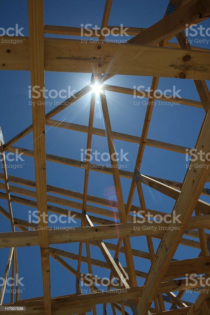 Cadre sur le toit, 2 photo libre de droits
