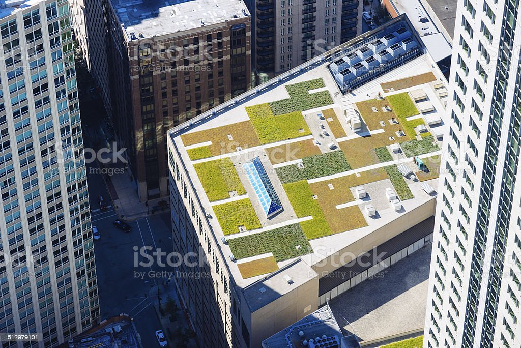 Roof Garden Insulation stock photo