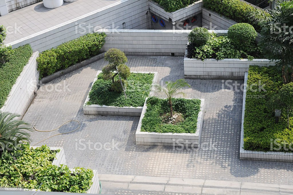 Roof garden stock photo