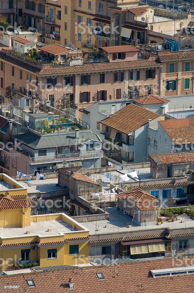 Roof gardens and balconies, Rome royalty-free stock photo