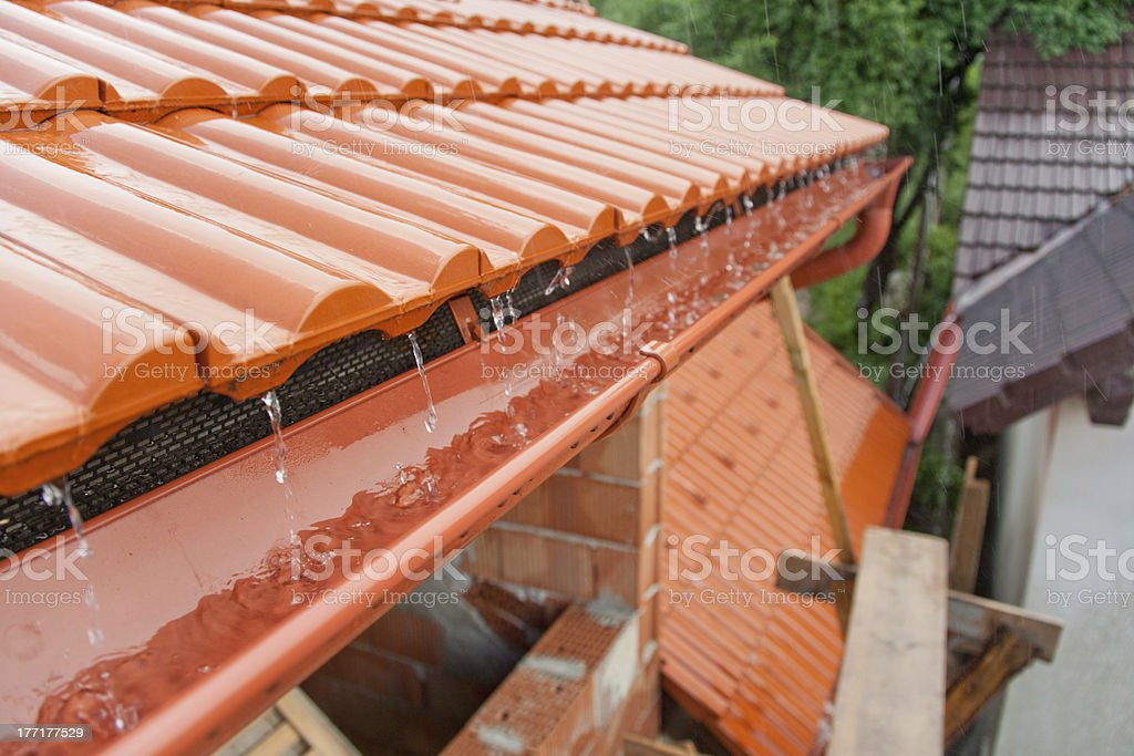 Roof gutter royalty-free stock photo