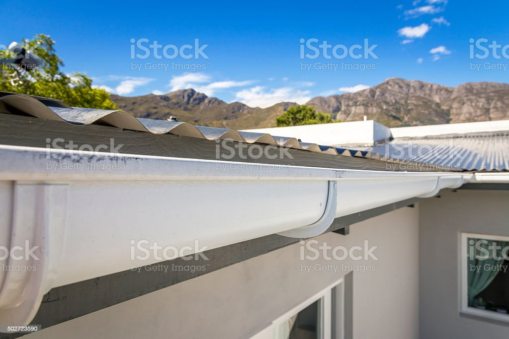 Roof Gutter stock photo