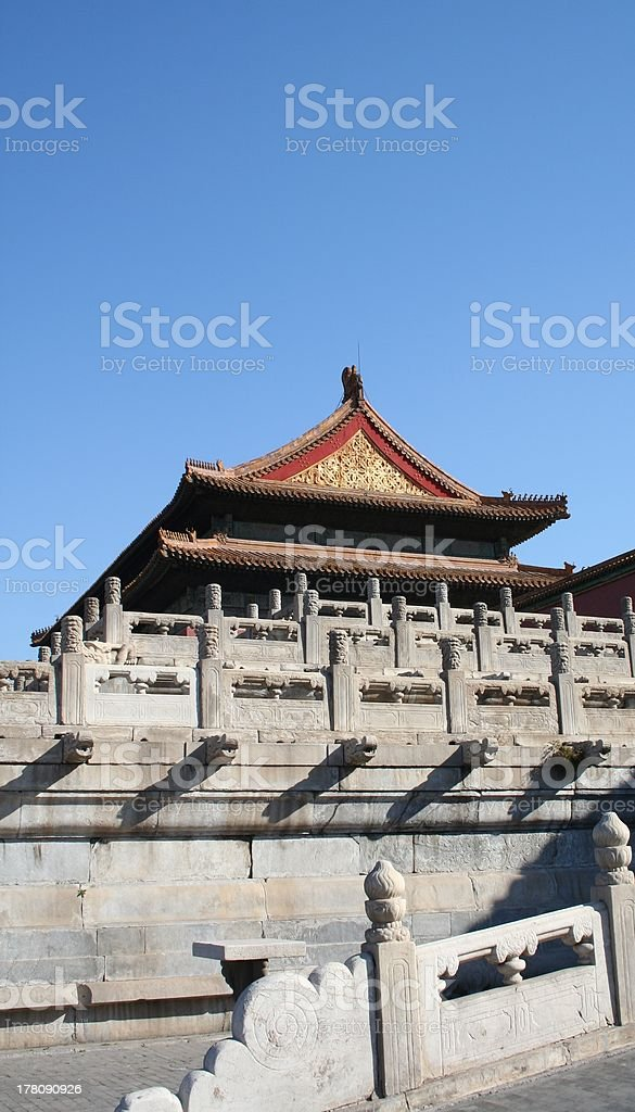 Roof Hall of Supreme Harmony, Forbidden City, Beijing, China royalty-free stock photo