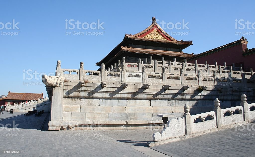 Roof Hall of Supreme Harmony, Forbidden City, Beijing, China stock photo