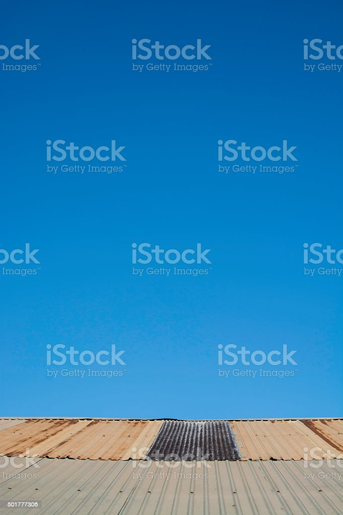 Roof house on blue sky royalty-free stock photo