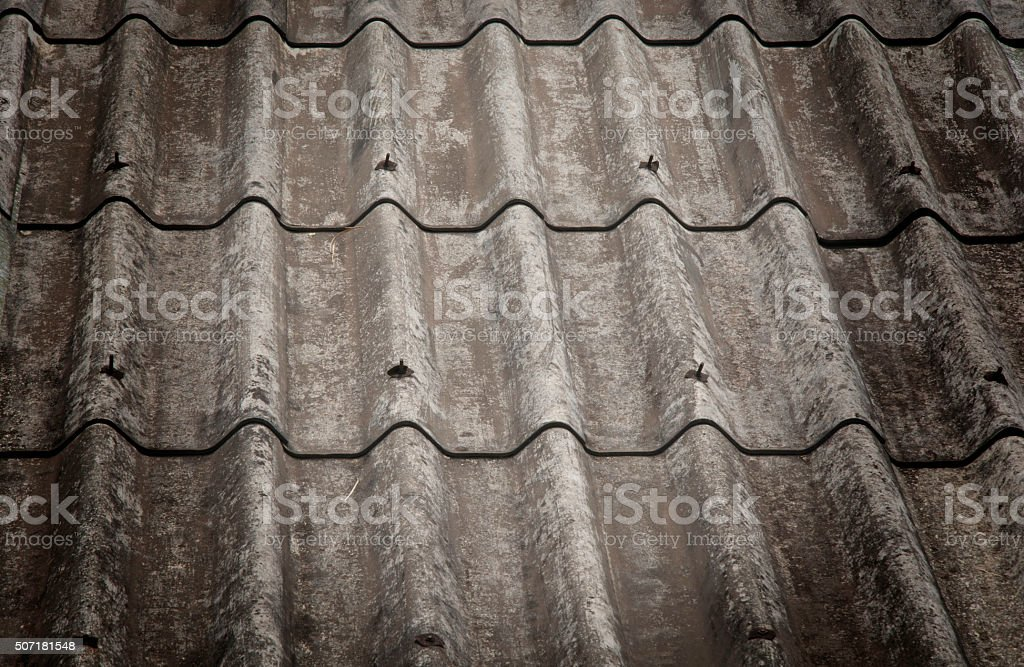 Roof house with tiled roof royalty-free stock photo