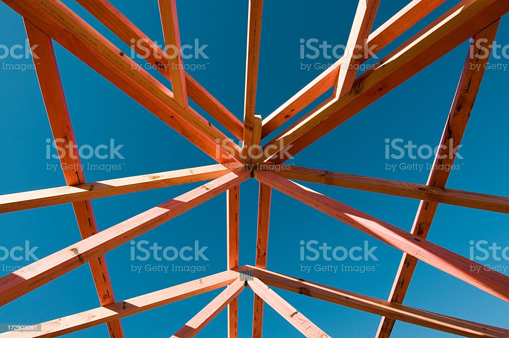 Roof Housebuilding Abstract royalty-free stock photo