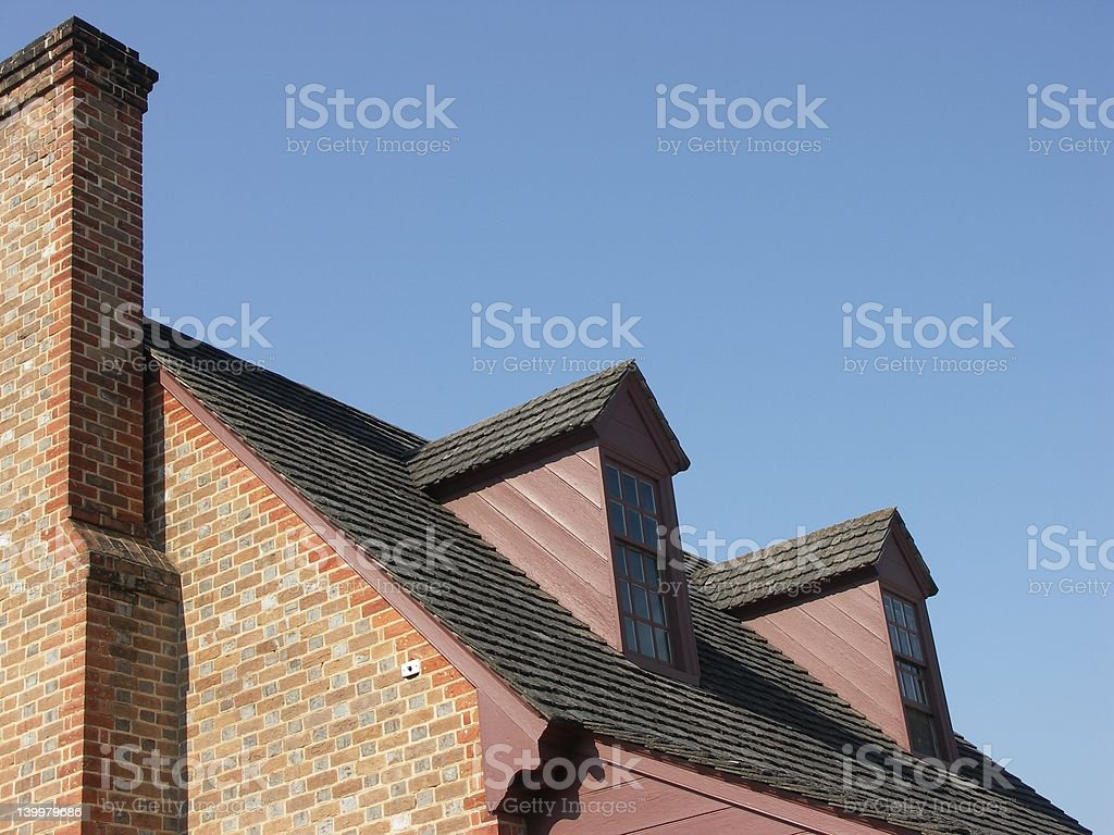 Roof in a Blue Sky royalty-free stock photo