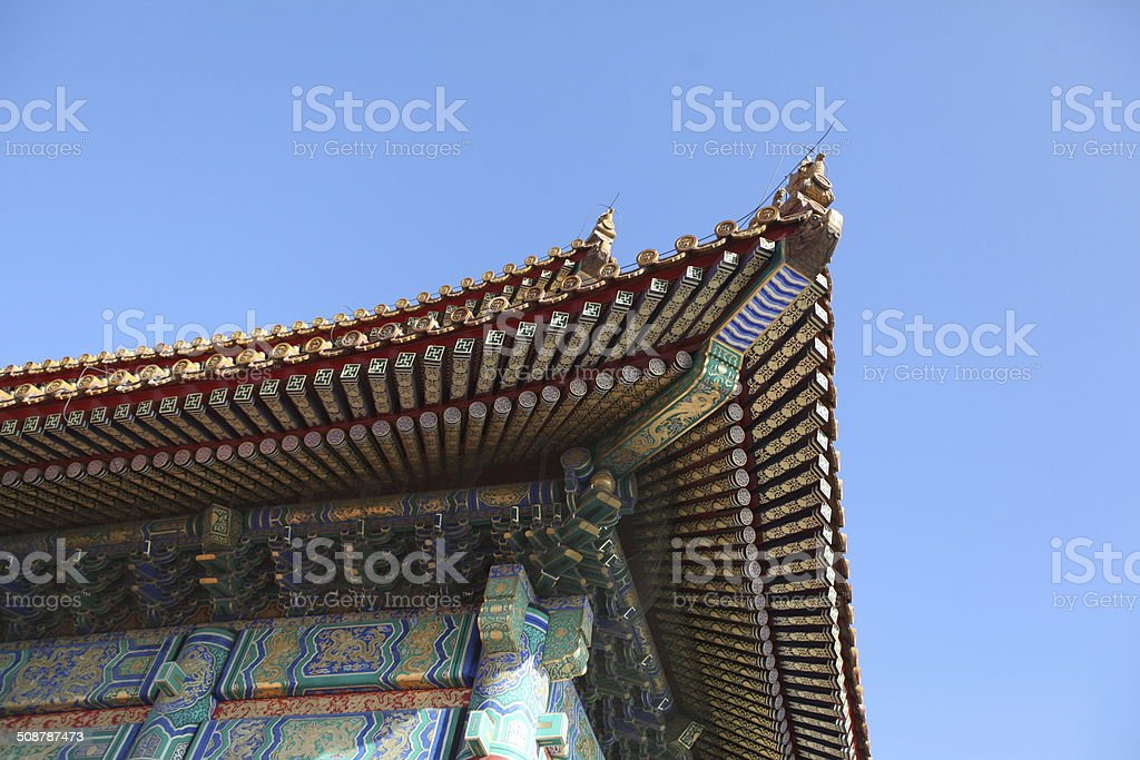 roof in china stock photo