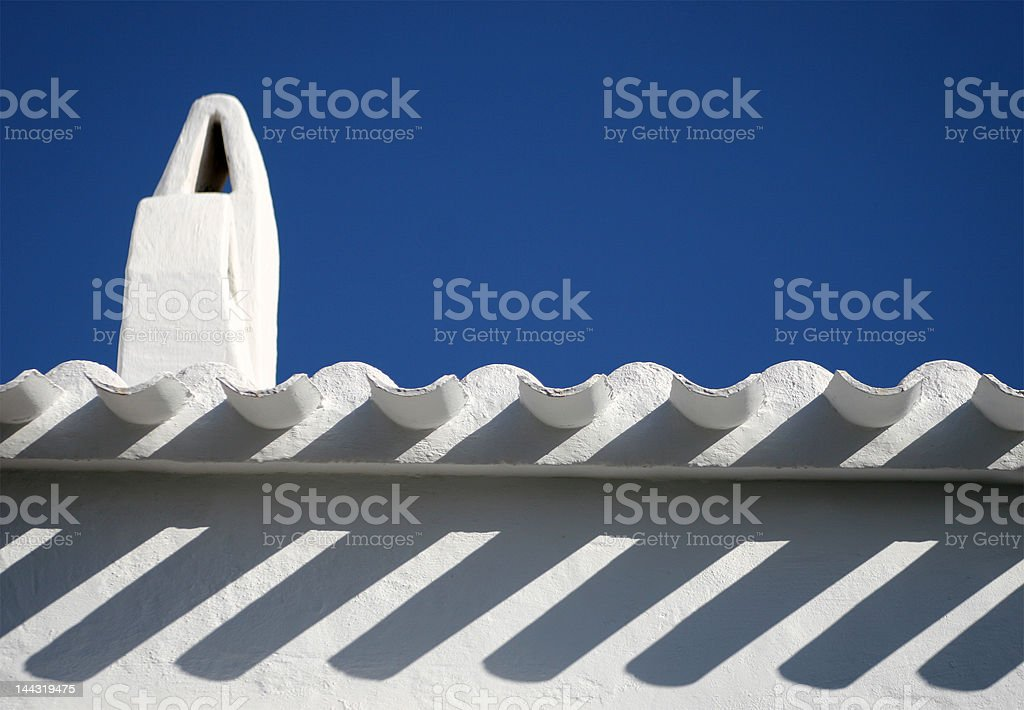 roof in minorca stock photo