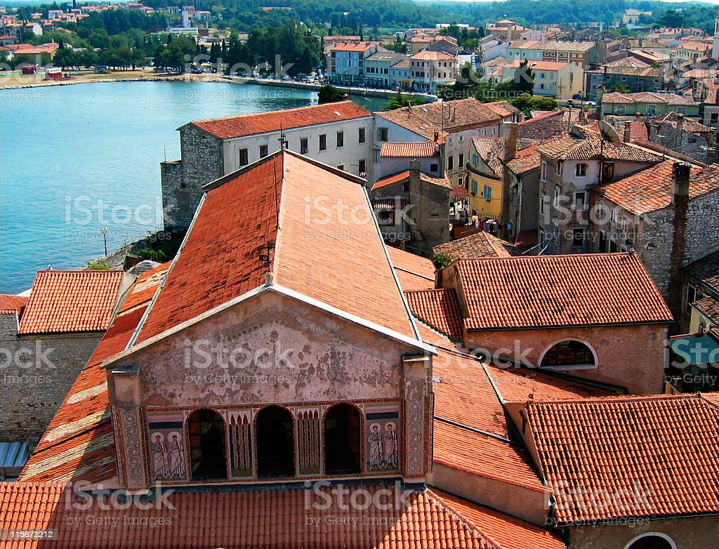 Roof in Porec stock photo