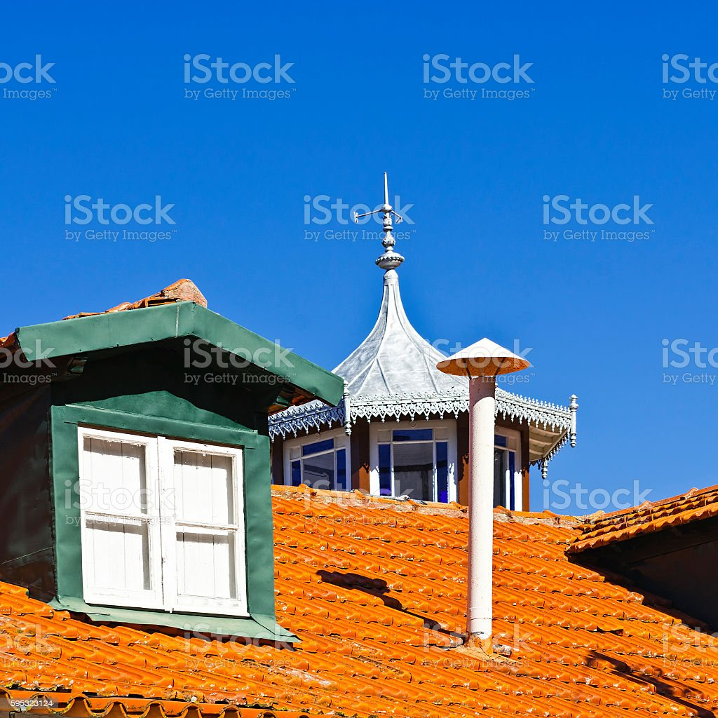 Roof in Portugal stock photo