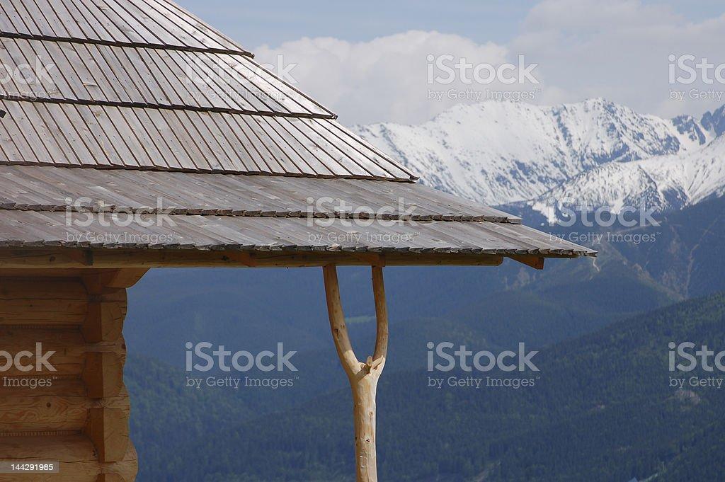 Roof in Zakopane royalty-free stock photo