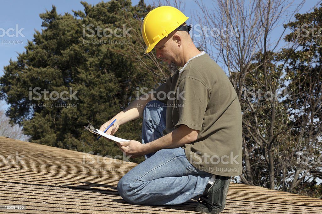Roof Inspector royalty-free stock photo